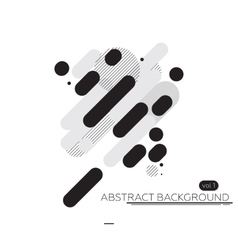 Minimal abstract background black and white vector image