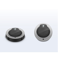 modern vacuum cleaner robot 3d realistic vector image