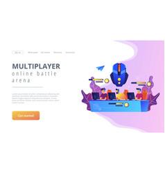 multiplayer online battle arena concept landing vector image
