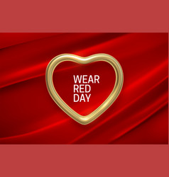 National wear red day holiday vector