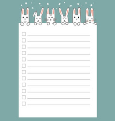 new year and christmas holidays to do list vector image
