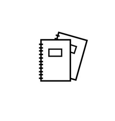 notebooks icon vector image