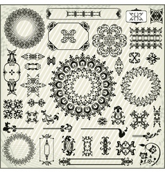 ornamental pattern with linear background vector image vector image