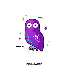 Owl icon halloween sticker vector