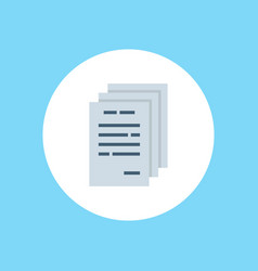 paper icon sign symbol vector image