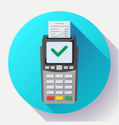 payment machine and credit card terminal icon in vector image