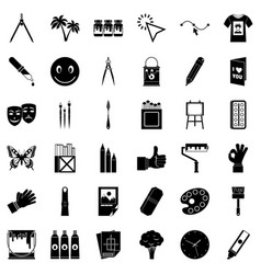 Pigment icons set simple style vector