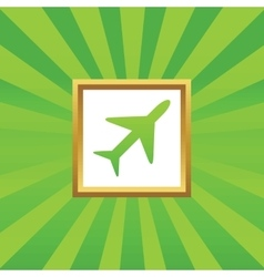 Plane picture icon vector image