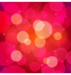 Red bokeh effect abstract background vector image