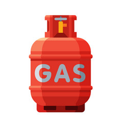Red liquid propane gas cylinder camping gas vector