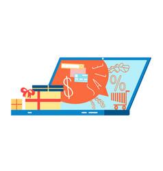 seasonal holiday sale cartoon vector image