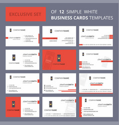 Set of 12 cpu creative busienss card template vector