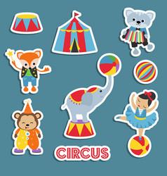 set of circus animals set of circus animals vector image
