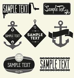 set vintage styled design hipster logo vector image