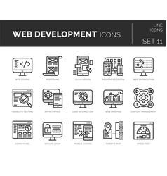 Set web development icons vector