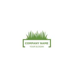 Simple lawn care logo design vector