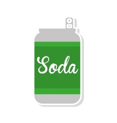 soda drink beverage isolated icon vector image vector image
