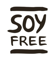 Soy free hand drawn isolated label vector image