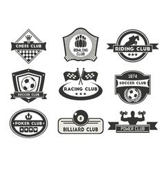 Sport emblems vector image