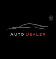 Sports car silhouette logo vector