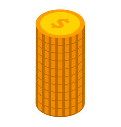 stack of coins icon isometric style vector image