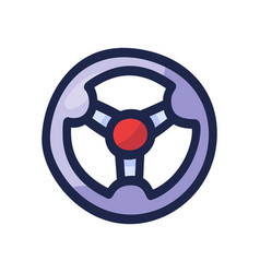 Steering wheel hand drawn outline doodle icon vector