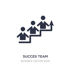 Succes team icon on white background simple vector