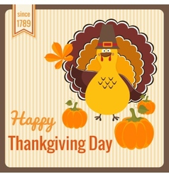 thanksgiving day vintage card vector image