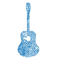 Thumbprint-guitar vector