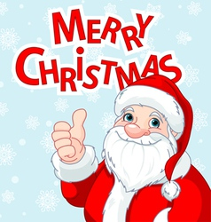 Thumbs up santa claus greeting card vector