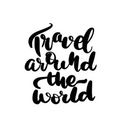 Travel around world vector