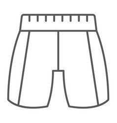 trousers thin line icon clothing and fashion vector image