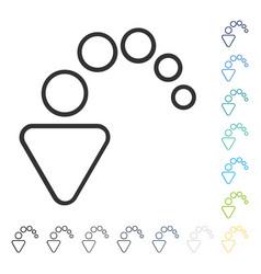 Undo icon vector