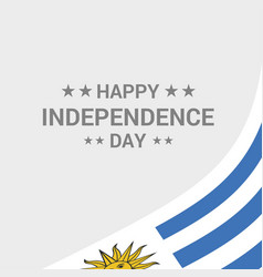 Uruguay independence day typographic design with vector