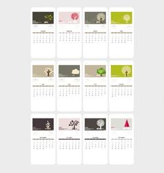 Valentines day 2015 calendar vector