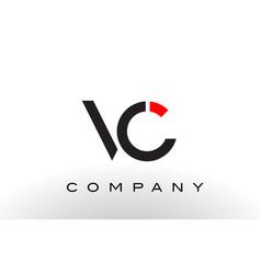 Vc logo letter design vector