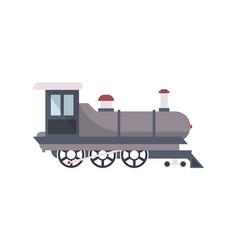 vintage railway train isolated icon vector image
