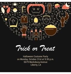 Web Banner or Emblem Halloween vector image