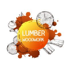 wood burning materials sketch vector image