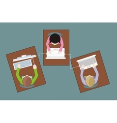 Work Space People for Table Design vector
