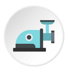 Electric grinder icon circle vector