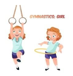 Girl doing gymnastic exercises vector image vector image