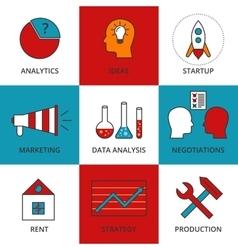Stock linear icon business development vector