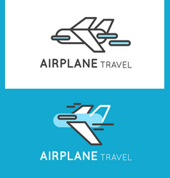 travel airplane logo in modern style vector image vector image