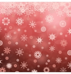 Winter Snowflake Red Pattern vector image vector image