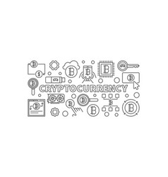 cryptocurrency linear vector image vector image