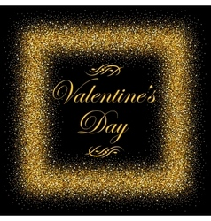 postcard with gold text for Valentine s Day vector image