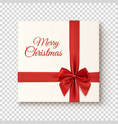 Realistic gift icon on transparent background vector image vector image