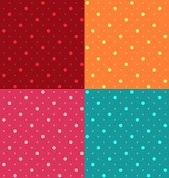 Seamless Polka dot pattern background vector image vector image