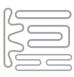 Simple Race Track Shape Set vector image vector image